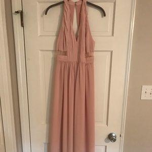 BCBG chiffon gown